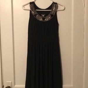 Haani Black Dress with Sequins and Beads